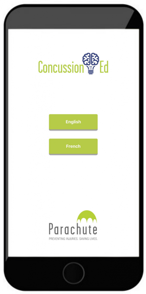 Concussion Ed App on mobile phone