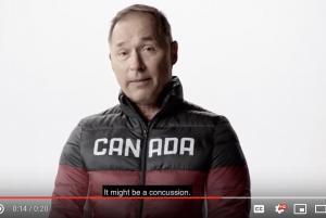 World ski champion Steve Podborski speaks to the camera